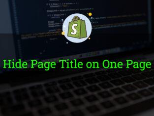 Hide Page Title