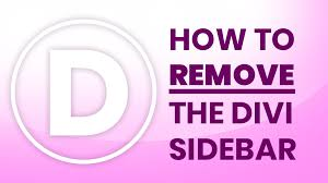 Remove Sidebar from Divi