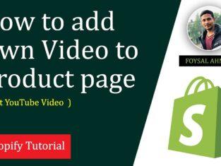 Add Video Shopify