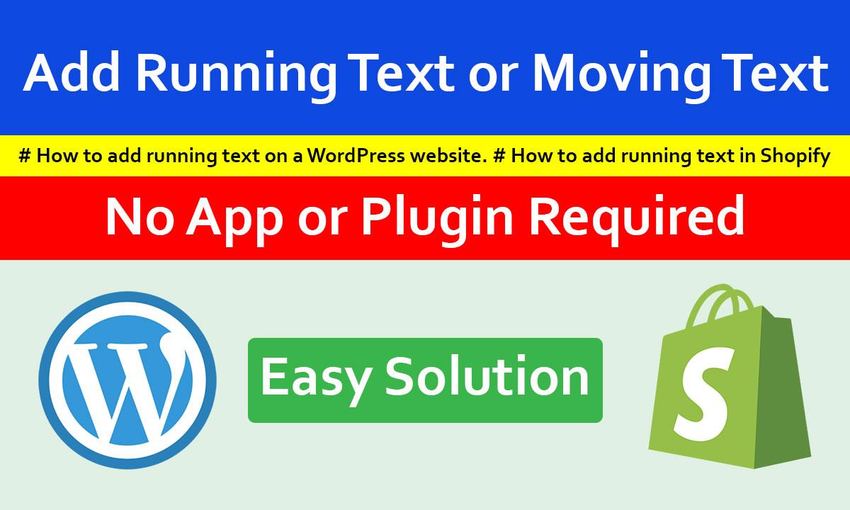 Add Running Text